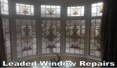 double glazing leaded bay repair
